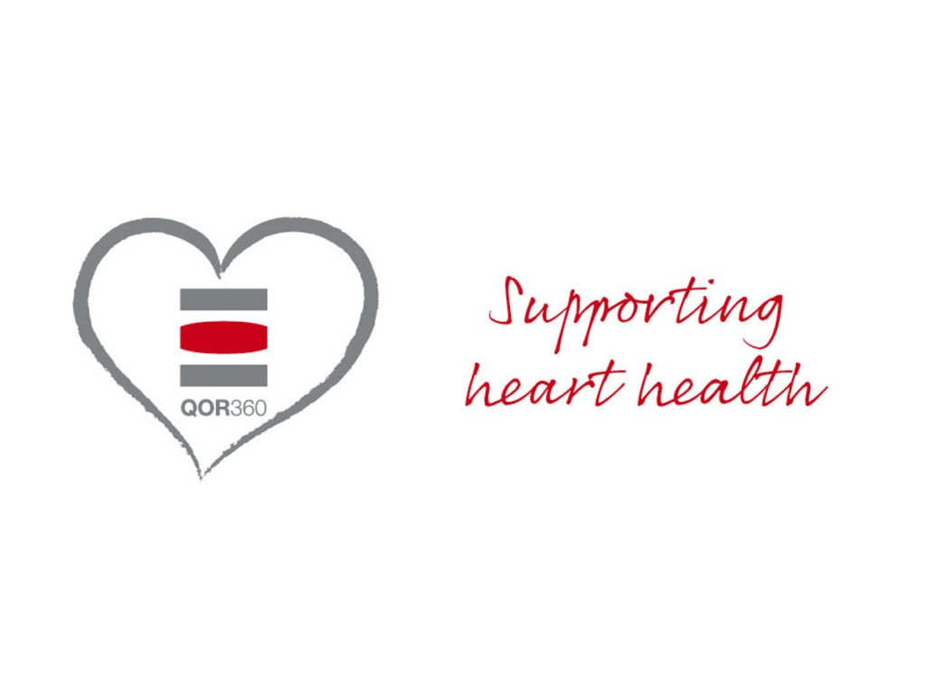 QOR360 sit for heart health logo