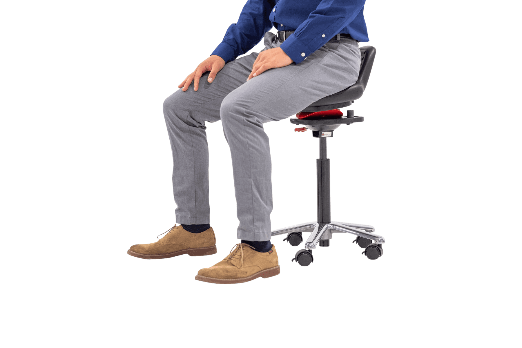 person sitting in active chair