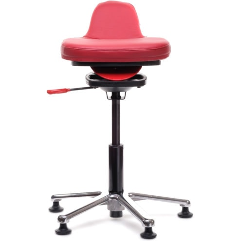 QOR360 Ariel Active Chair in Performance Red Leather