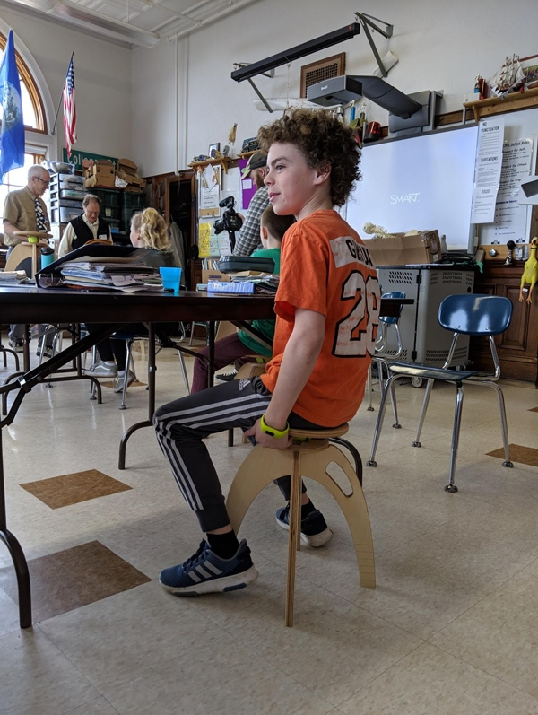 active chairs in the classroom for kids